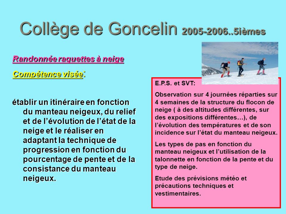 Collège de Goncelin 2005-2006..5ièmes