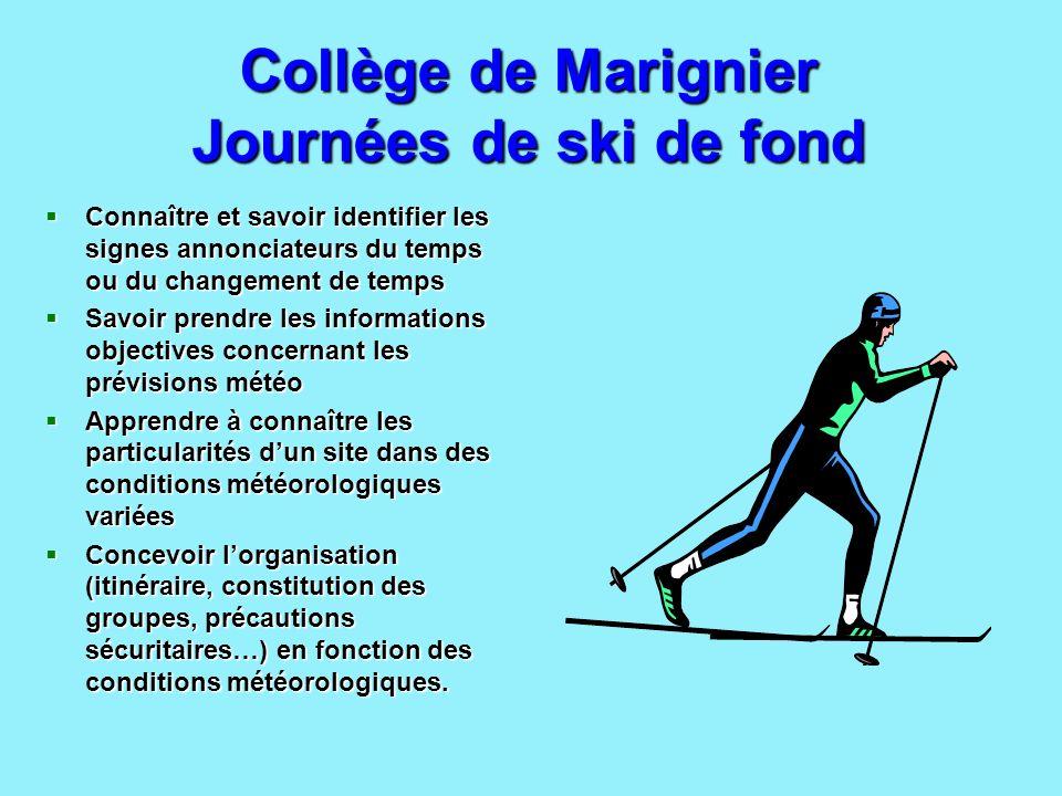 Collège de Marignier Journées de ski de fond