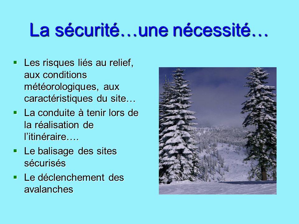La sécurité…une nécessité…