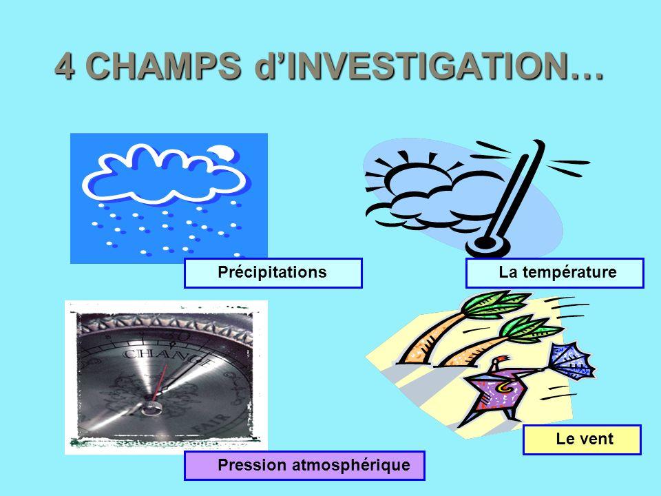 4 CHAMPS d'INVESTIGATION…