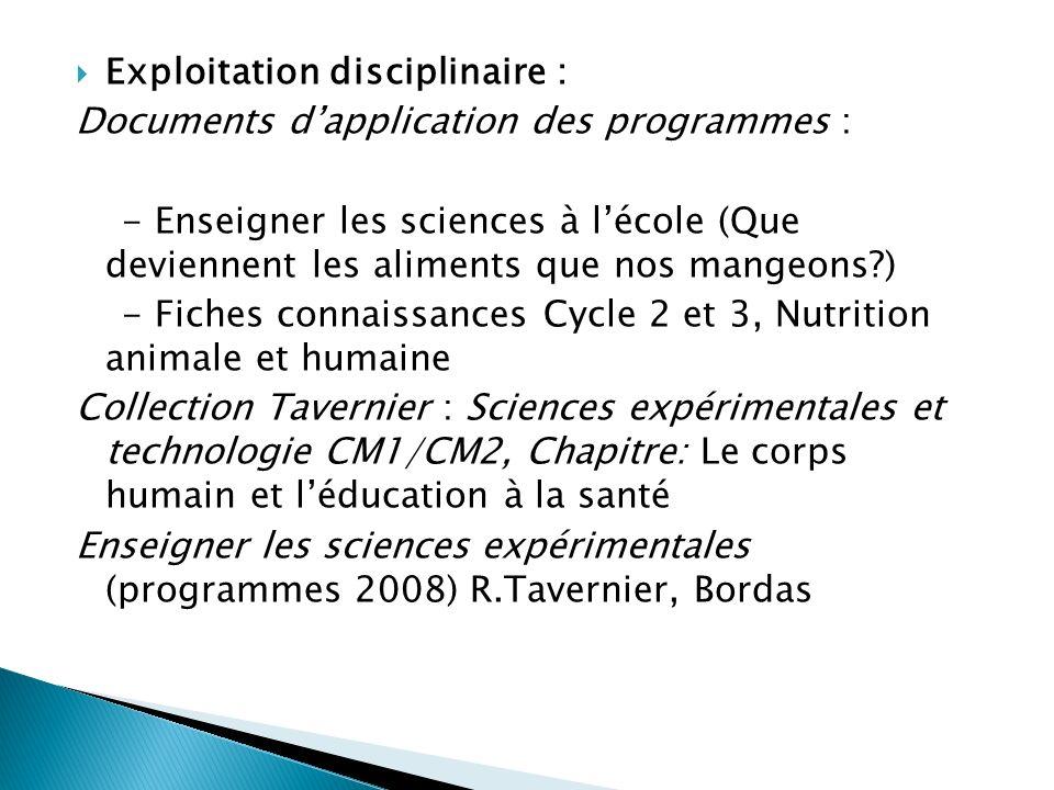 Exploitation disciplinaire :