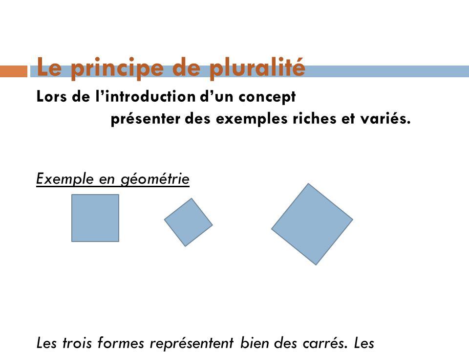 Le principe de pluralité