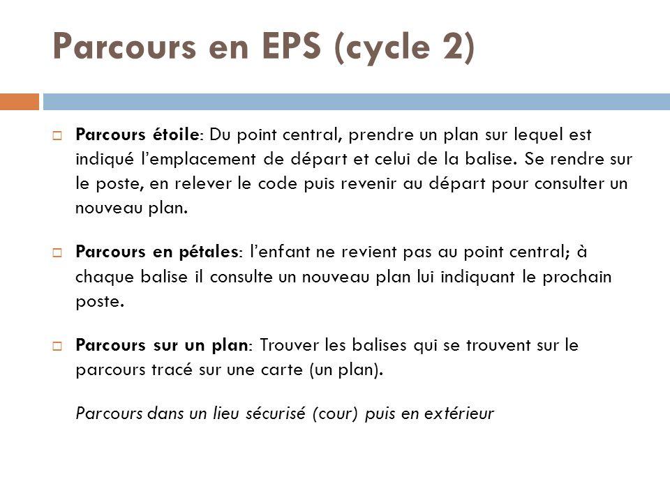 Parcours en EPS (cycle 2)