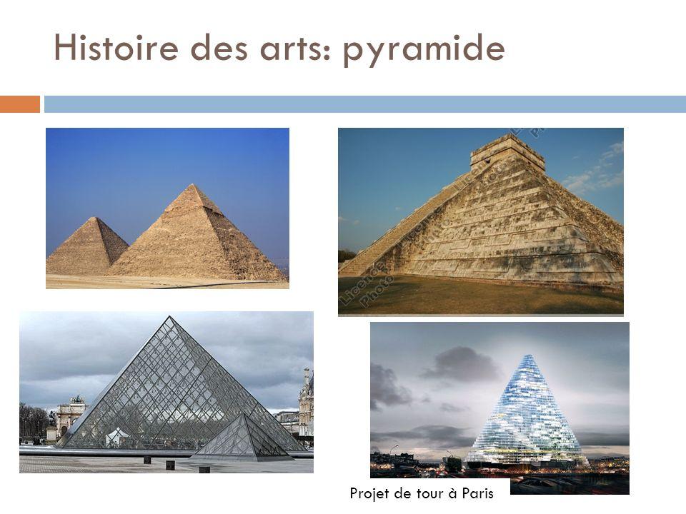 Histoire des arts: pyramide