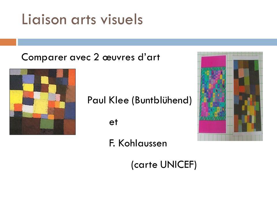 Liaison arts visuels Comparer avec 2 œuvres d'art