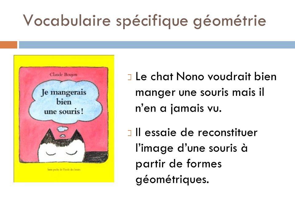 Vocabulaire spécifique géométrie