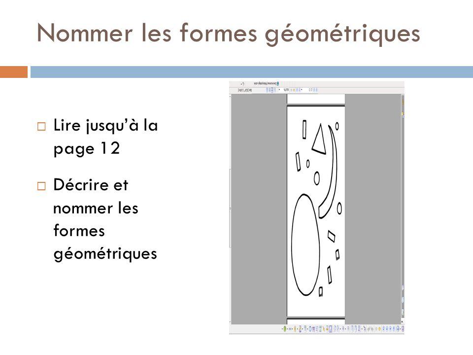 Nommer les formes géométriques