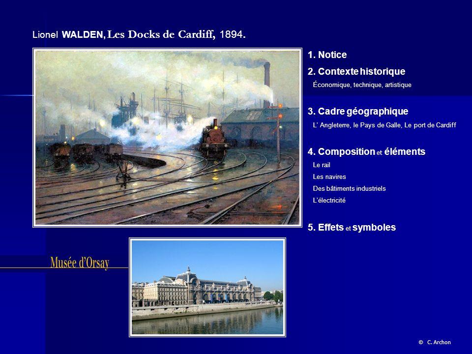 Lionel WALDEN, Les Docks de Cardiff, 1894.