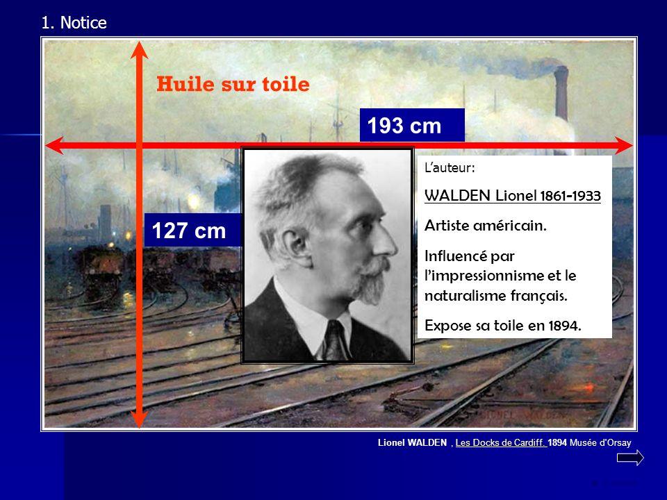 Huile sur toile 193 cm 127 cm 1. Notice WALDEN Lionel 1861-1933