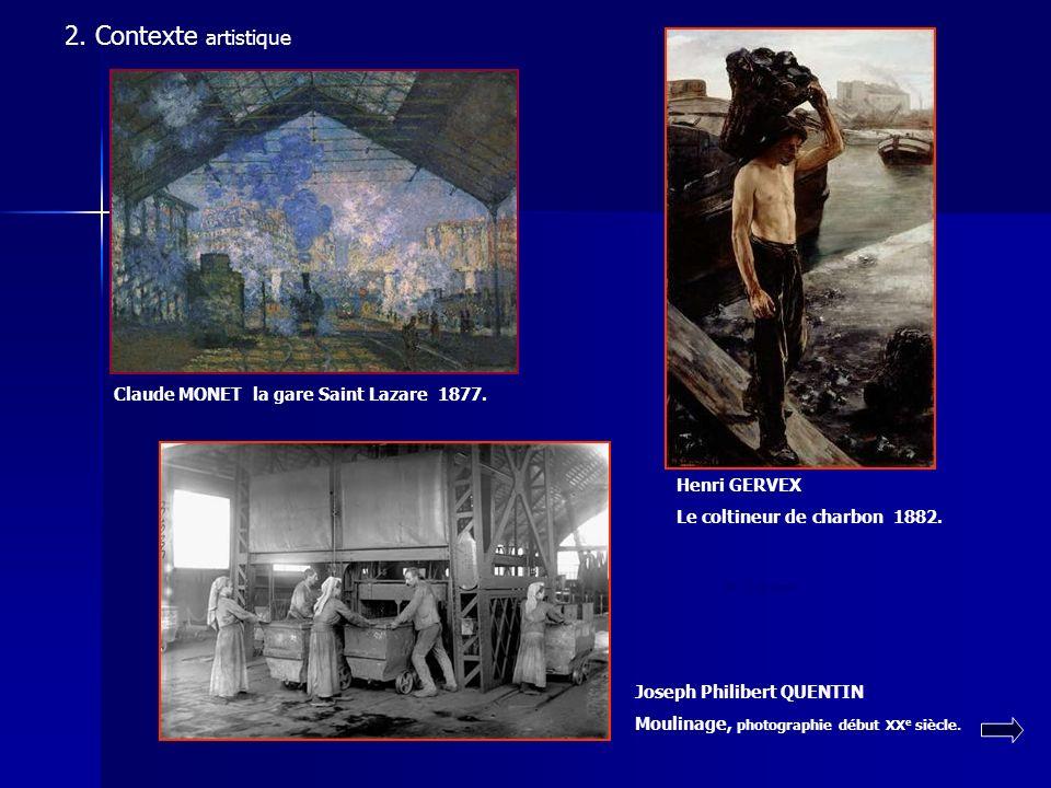 2. Contexte artistique L'IMPRESSIONNISME LE NATURALISME