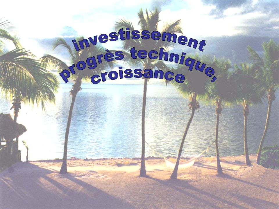 Image investissement progrès technique, croissance