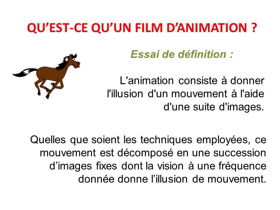 QU'EST-CE QU'UN FILM D'ANIMATION