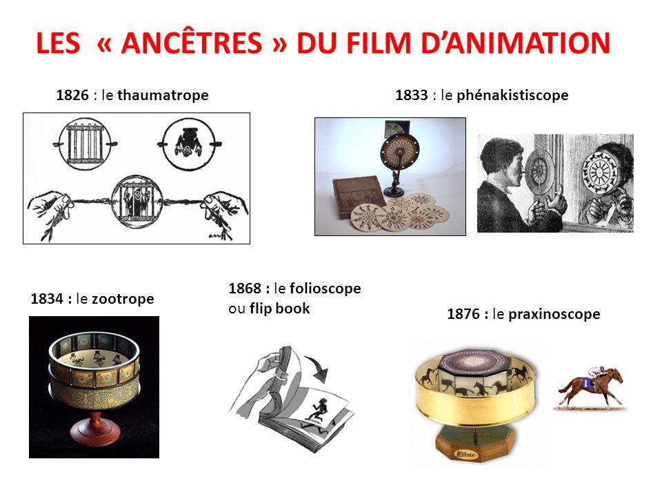 LES « ANCÊTRES » DU FILM D'ANIMATION