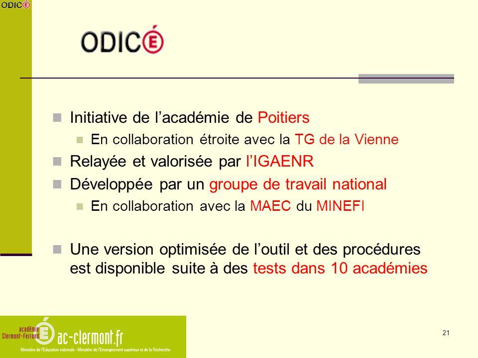 Initiative de l'académie de Poitiers Relayée et valorisée par l'IGAENR