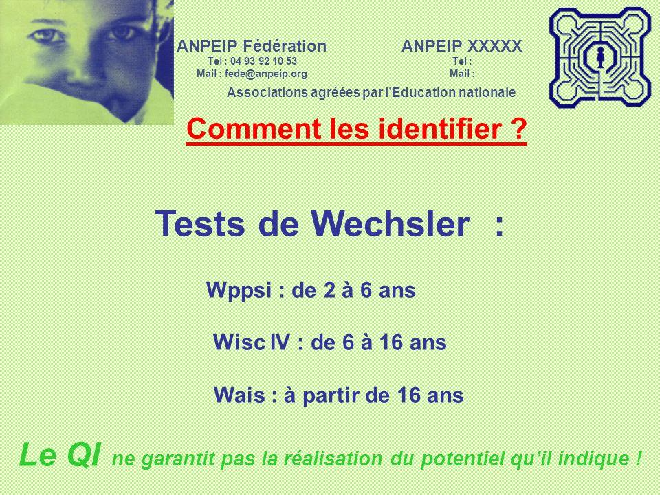 ANPEIP Fédération Tel : 04 93 92 10 53. Mail : fede@anpeip.org. ANPEIP XXXXX. Tel : Mail : Associations agréées par l'Education nationale.