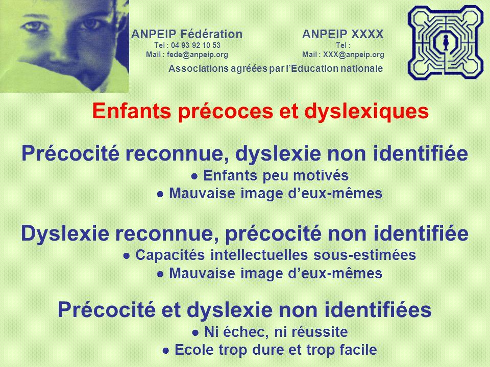 Enfants précoces et dyslexiques