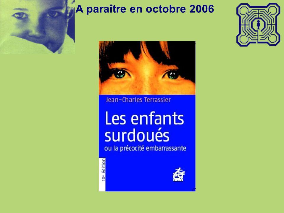 A paraître en octobre 2006