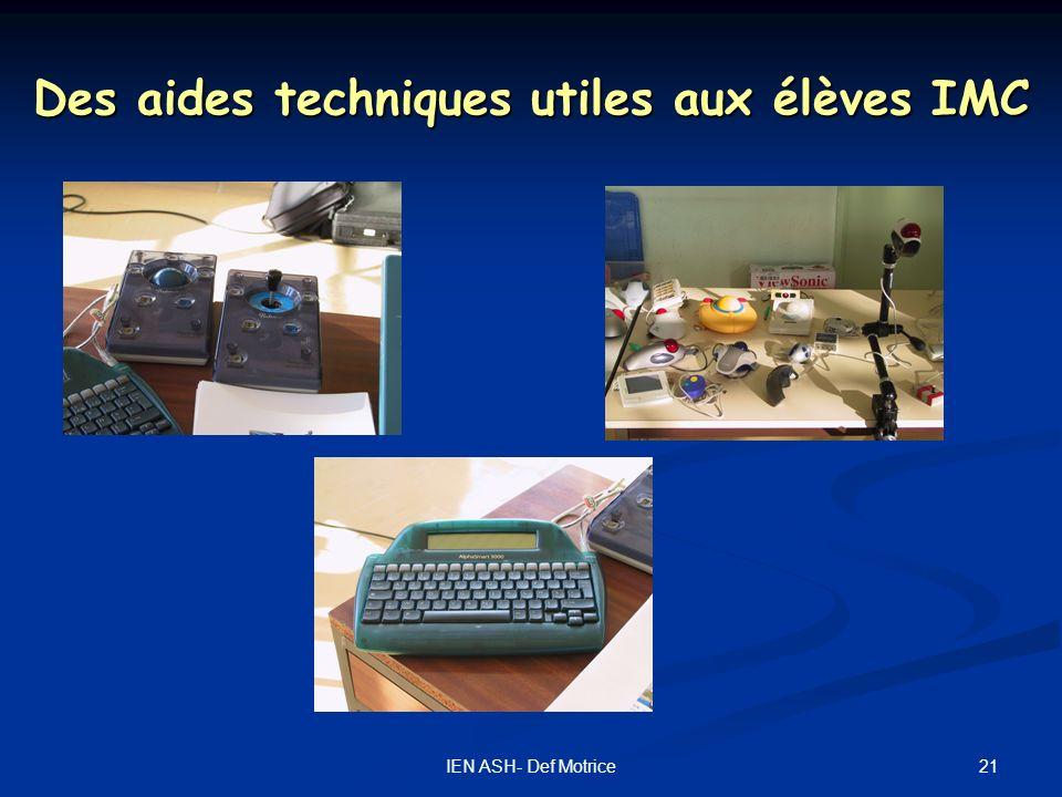 Des aides techniques utiles aux élèves IMC