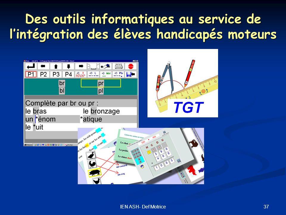 Des outils informatiques au service de l'intégration des élèves handicapés moteurs