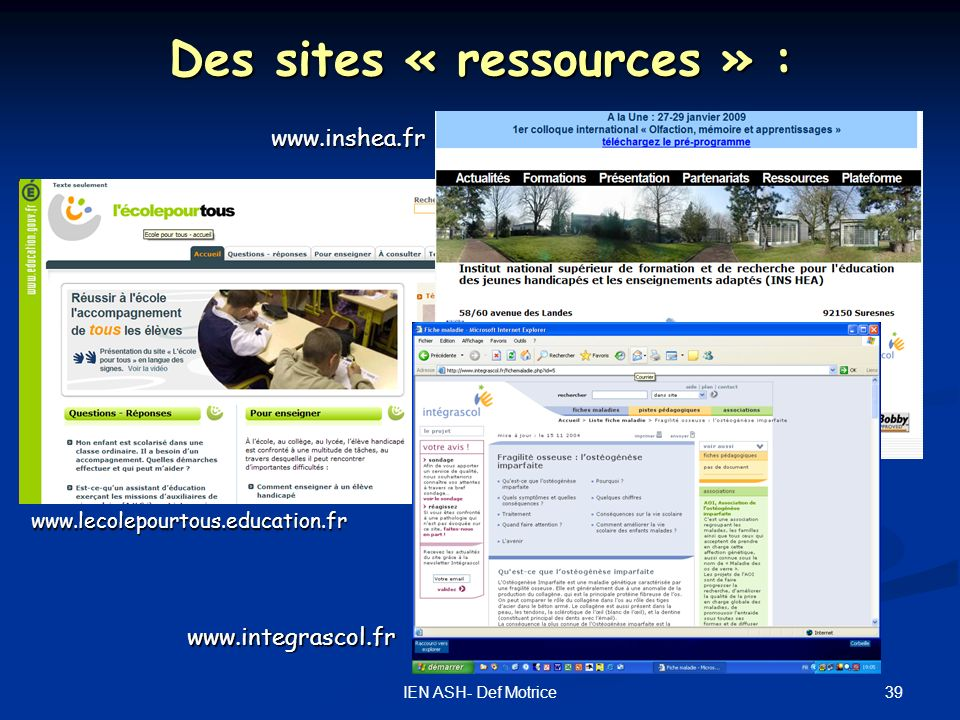 Des sites « ressources » :