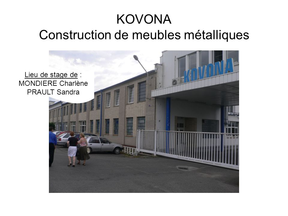 KOVONA Construction de meubles métalliques