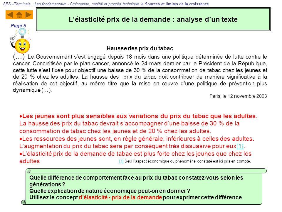 L'élasticité prix de la demande : analyse d'un texte