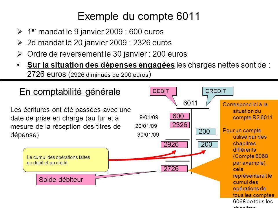 Exemple du compte 6011 En comptabilité générale