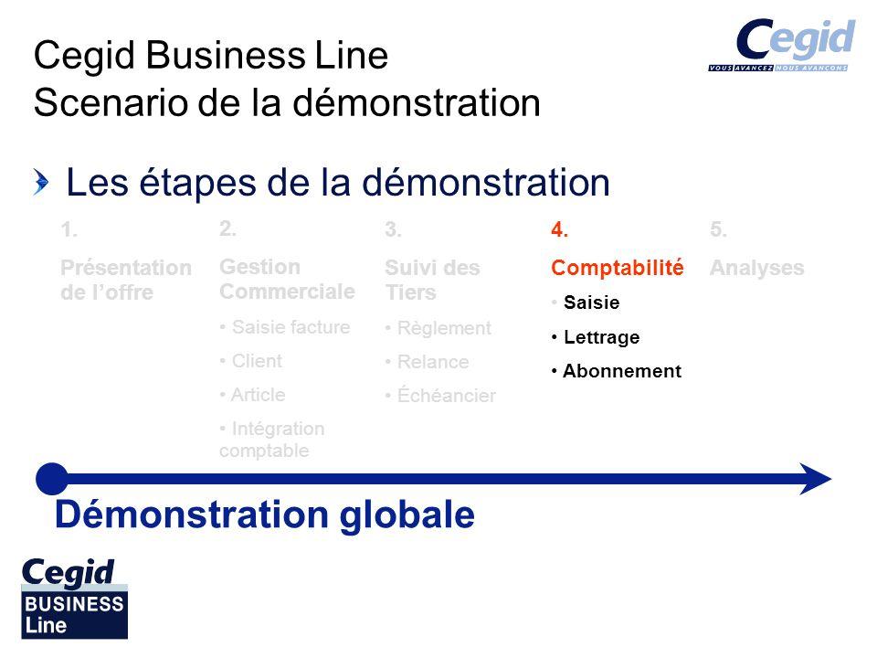 Cegid Business Line Scenario de la démonstration