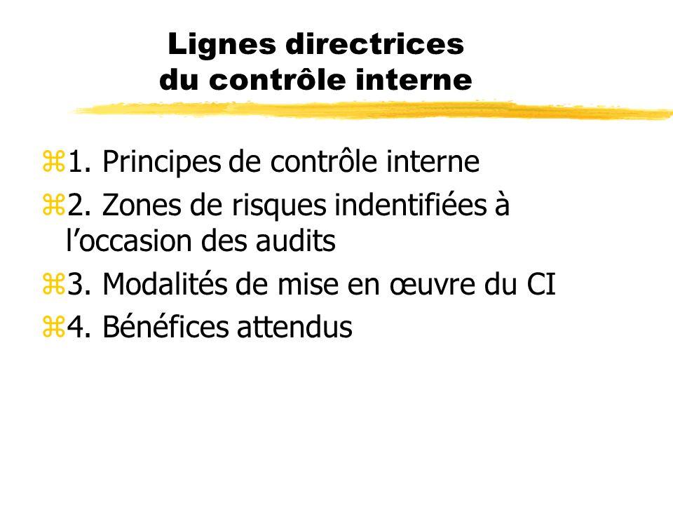 Lignes directrices du contrôle interne
