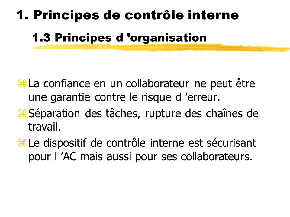 1.3 Principes d 'organisation