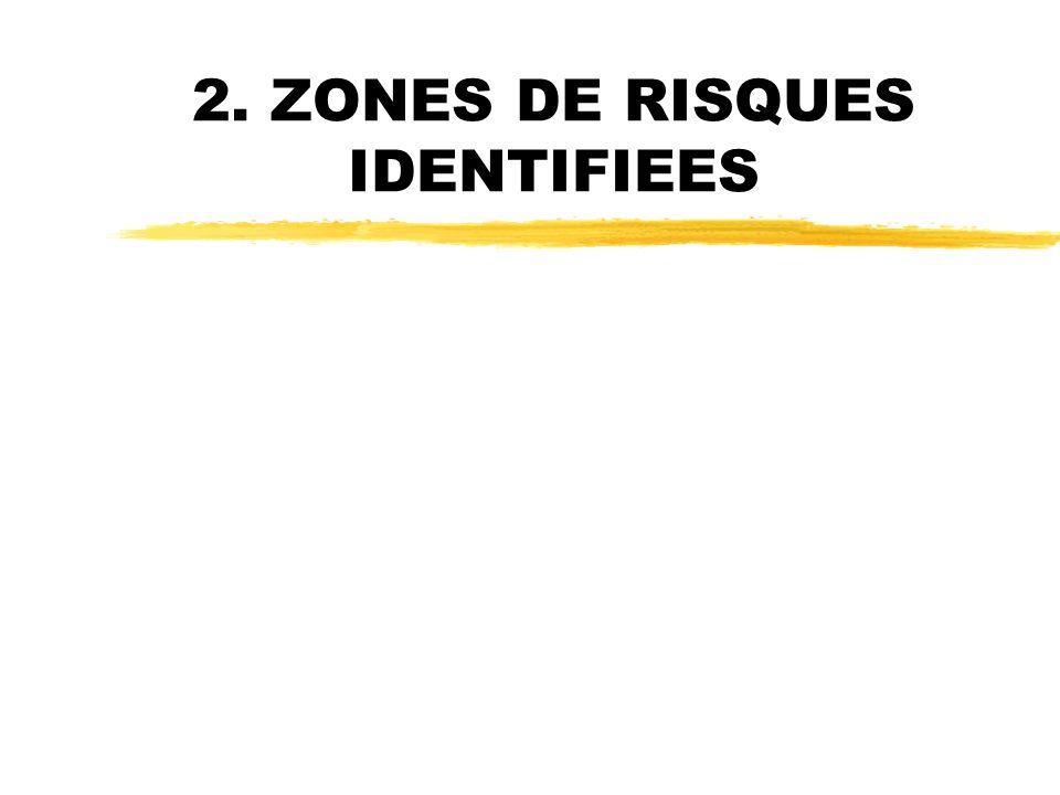 2. ZONES DE RISQUES IDENTIFIEES