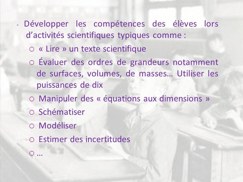 « Lire » un texte scientifique