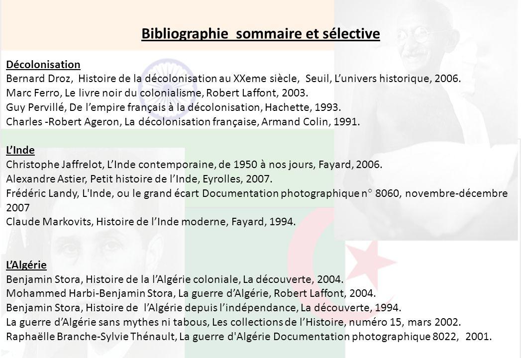 Bibliographie sommaire et sélective