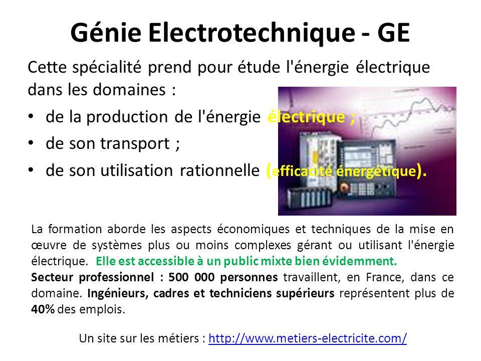 Génie Electrotechnique - GE