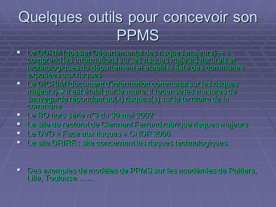 Quelques outils pour concevoir son PPMS