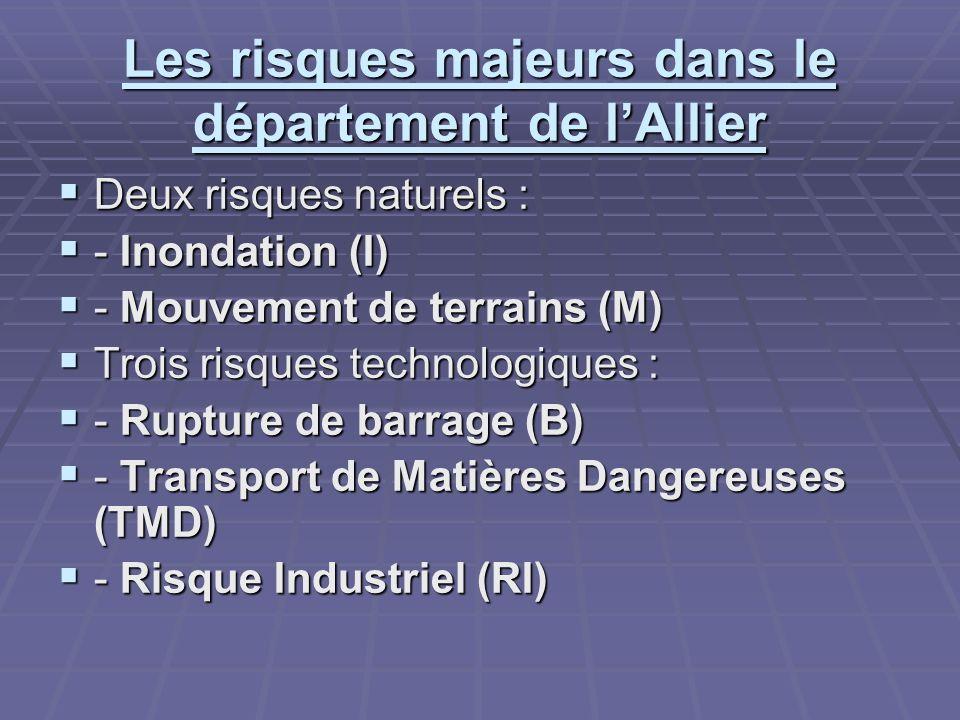 Les risques majeurs dans le département de l'Allier