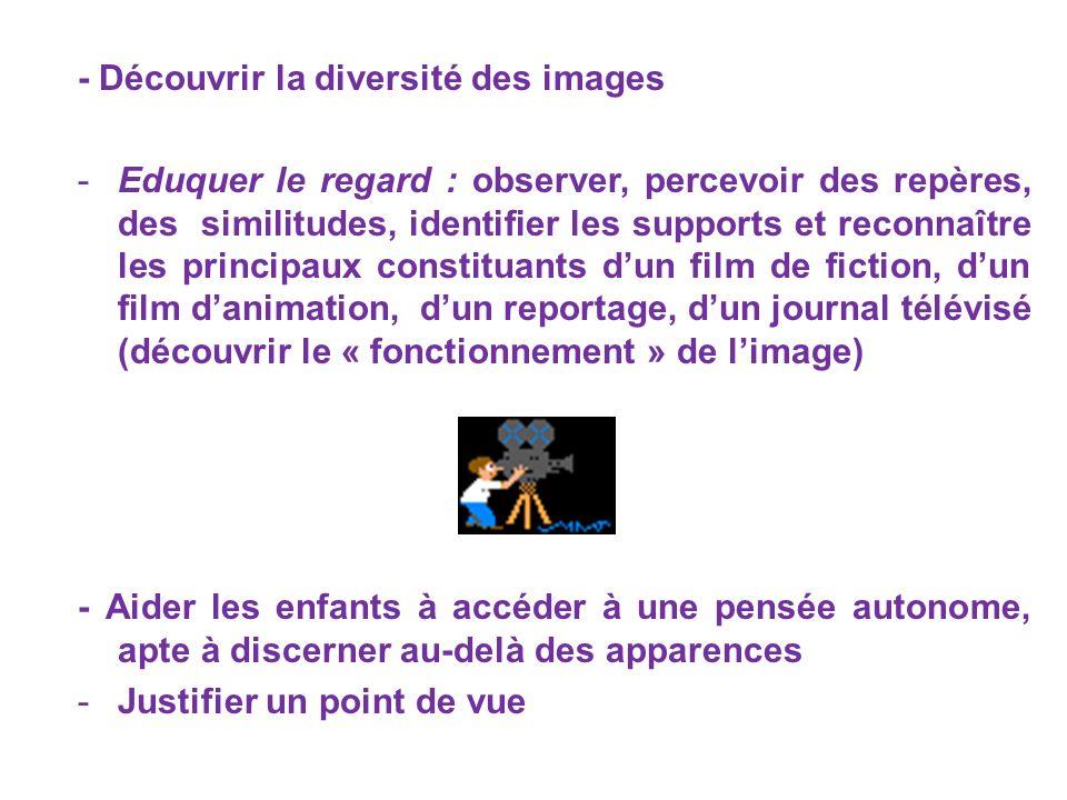 - Découvrir la diversité des images