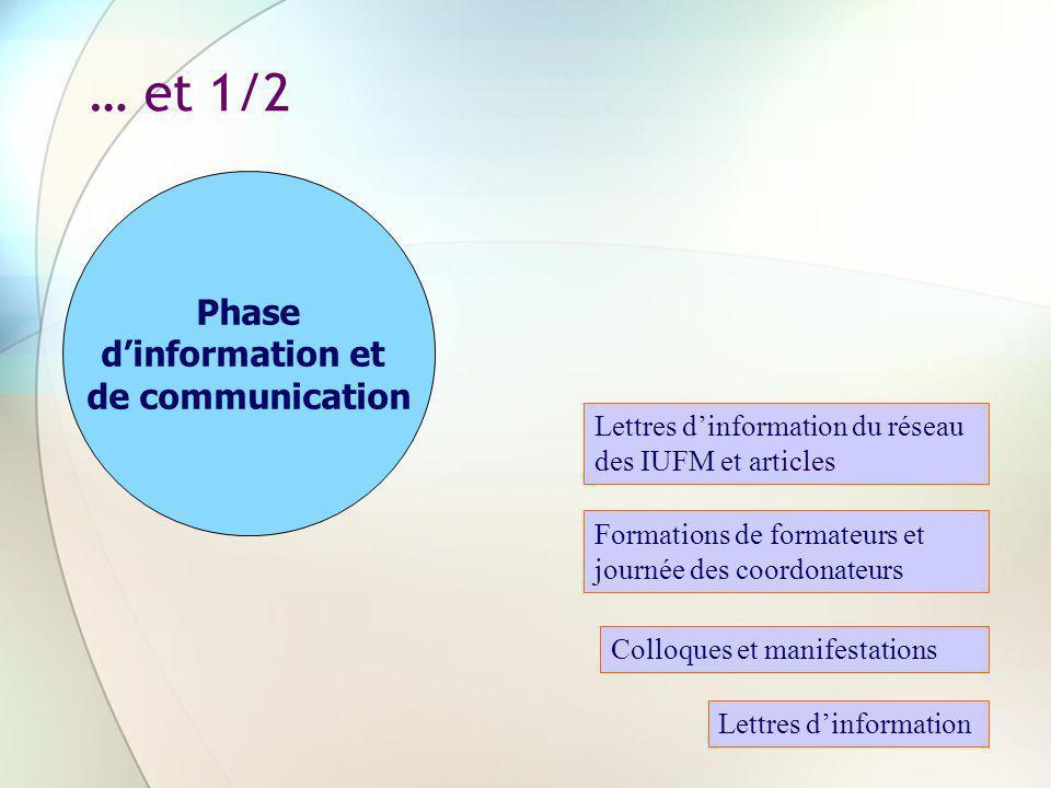 … et 1/2 Phase d'information et de communication