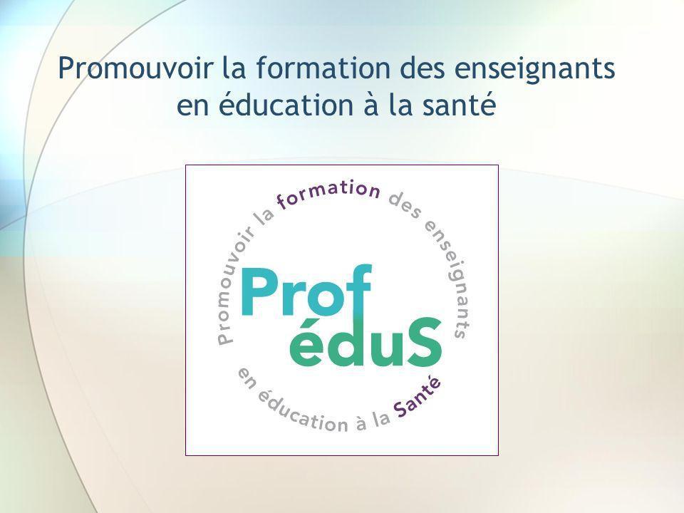 Promouvoir la formation des enseignants en éducation à la santé