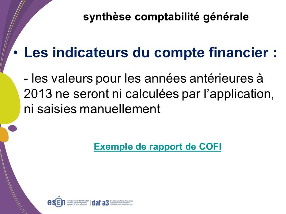 synthèse comptabilité générale