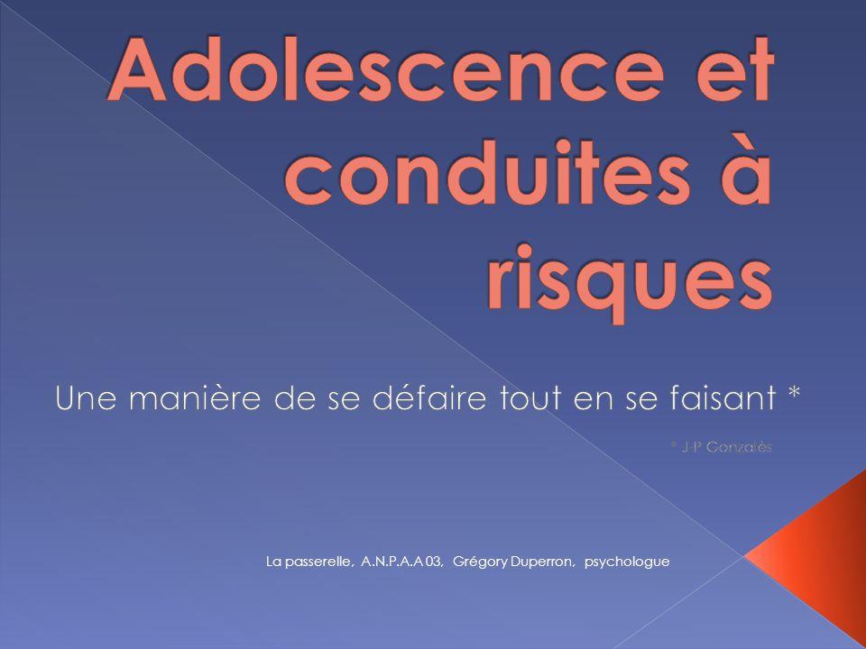 Adolescence et conduites à risques