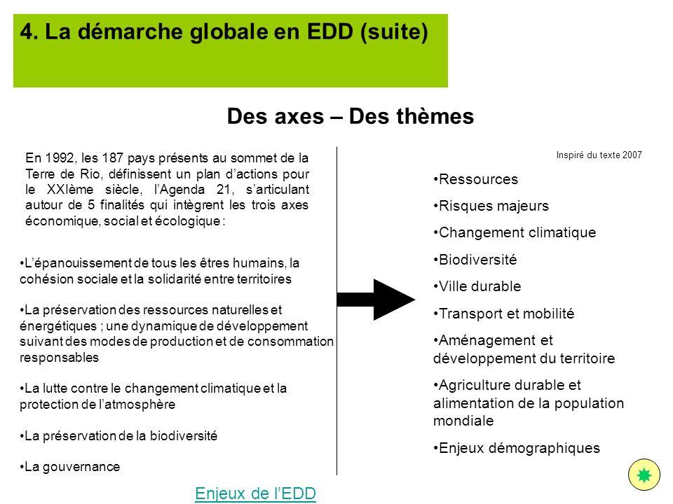 4. La démarche globale en EDD (suite)