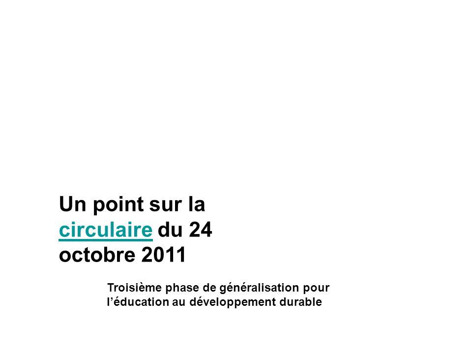 Un point sur la circulaire du 24 octobre 2011