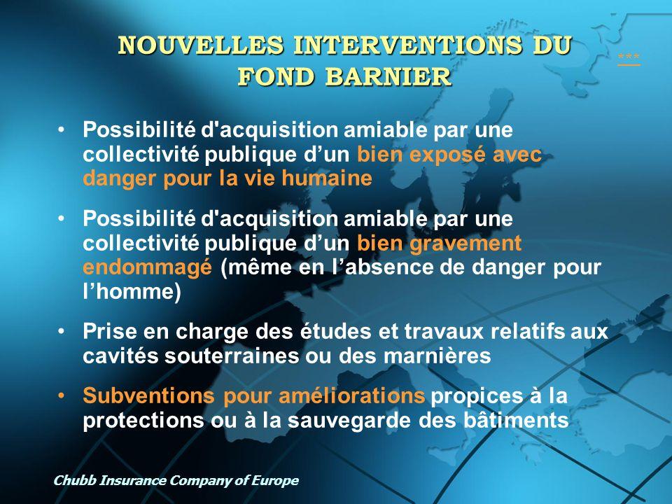 NOUVELLES INTERVENTIONS DU FOND BARNIER