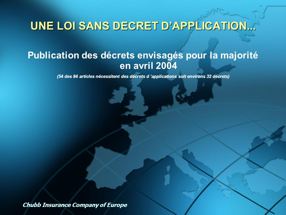 UNE LOI SANS DECRET D'APPLICATION...