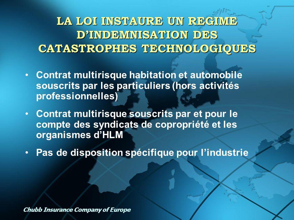 LA LOI INSTAURE UN REGIME D'INDEMNISATION DES CATASTROPHES TECHNOLOGIQUES