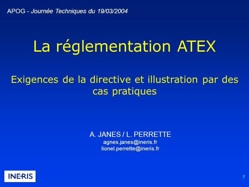 La réglementation ATEX