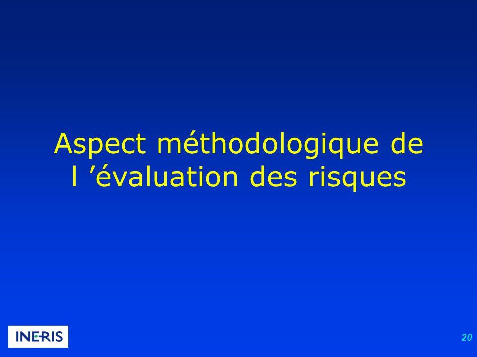 Aspect méthodologique de l 'évaluation des risques