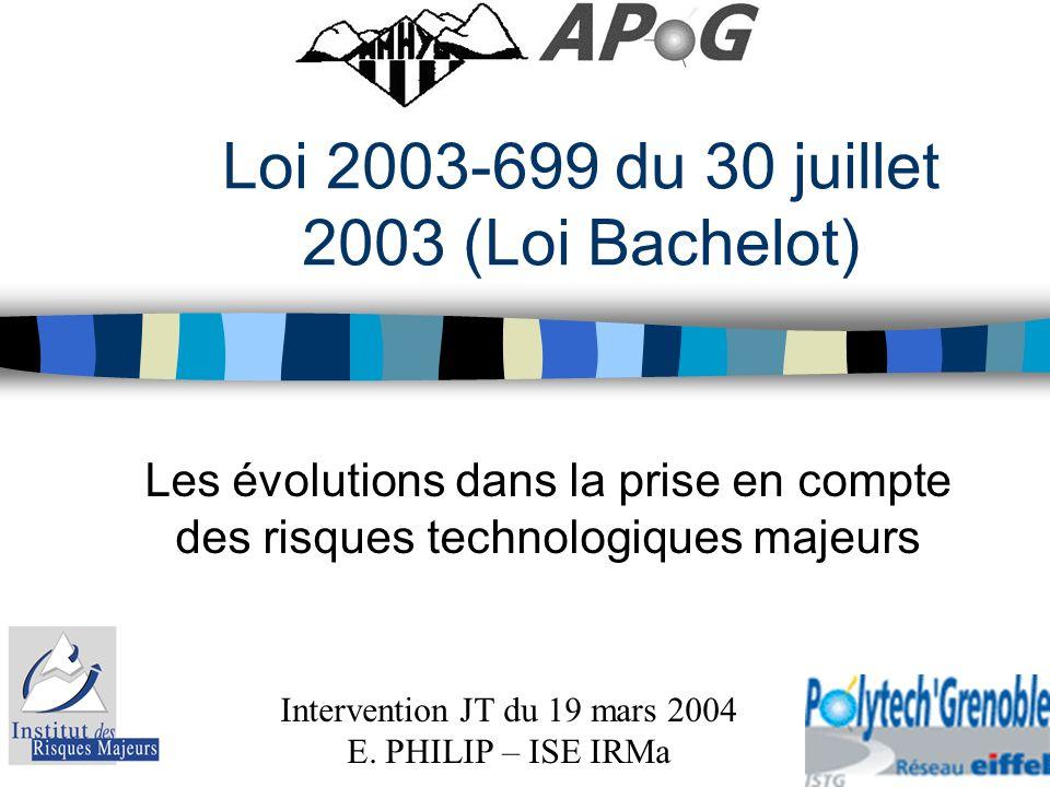 Loi 2003-699 du 30 juillet 2003 (Loi Bachelot)