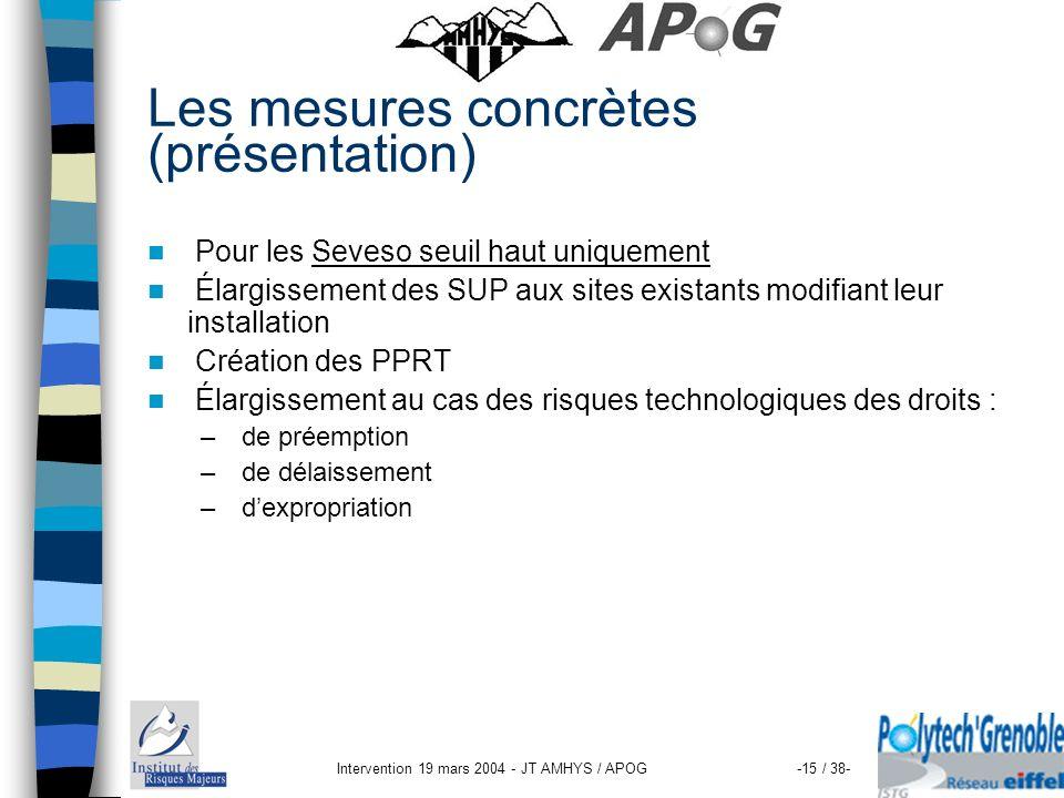 Les mesures concrètes (présentation)